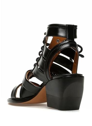 Chloe Kalın Topuklu %100 Deri Sandalet Siyah